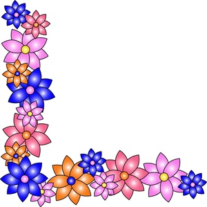 300x299 Hawaii Clipart Floral Corner Borders
