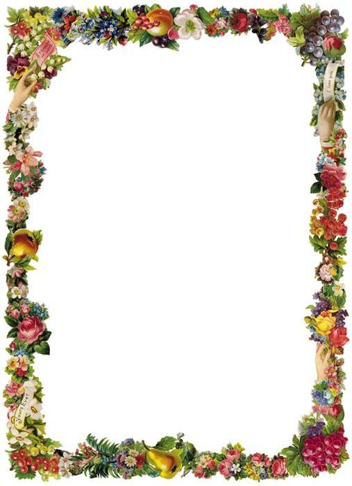 507x700 Best 25+ Flower border clipart ideas Clipart of