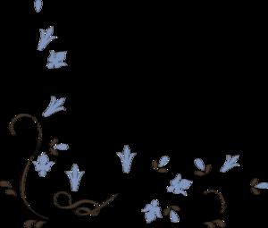 300x255 Flower Corner Clip Art