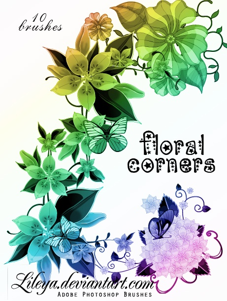 461x610 Floral Corners