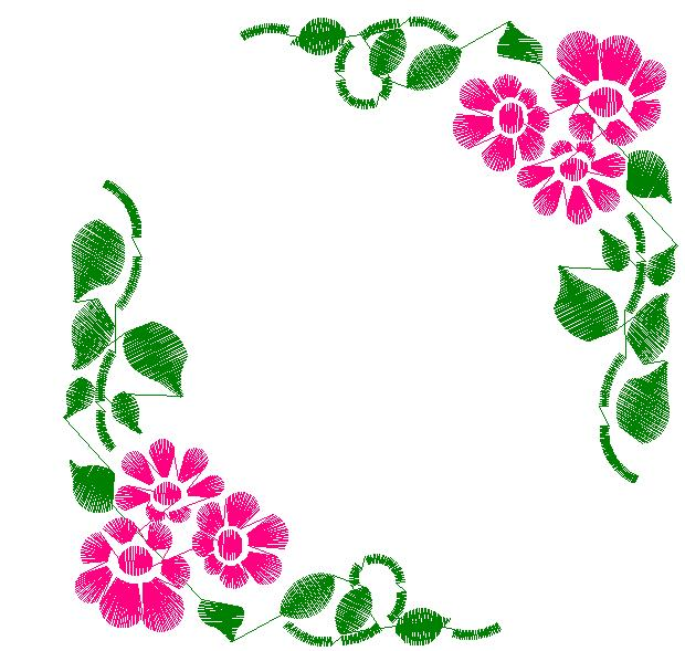 620x589 Floral Corners Embroidery Designs, Free Machine Embroidery Designs