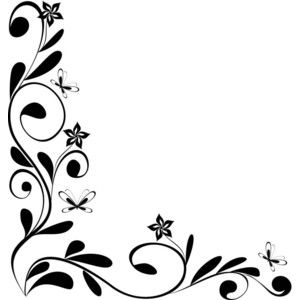 300x300 Free Floral Corners Clipart (25+)