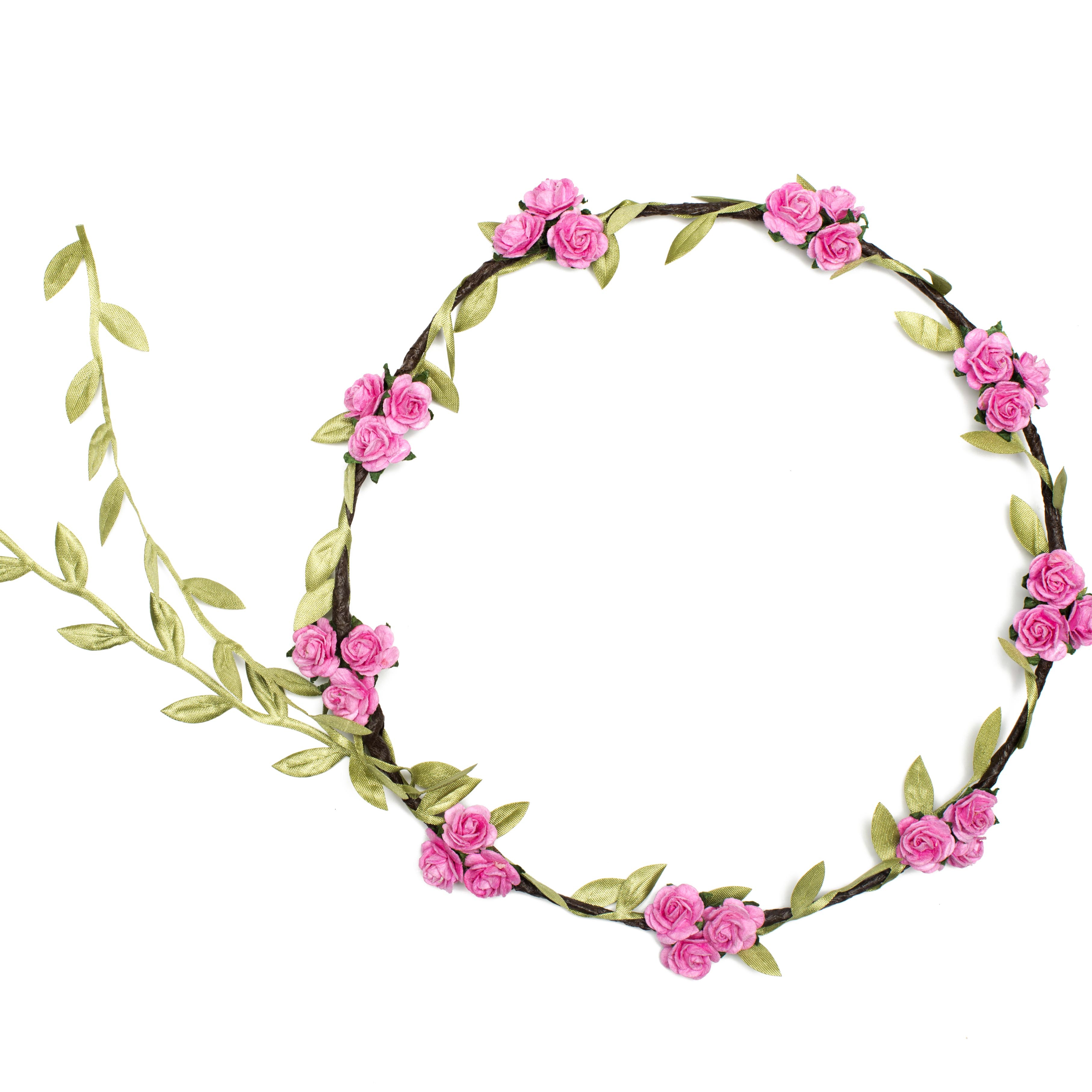 3628x3629 Crown Of Flowers Clipart