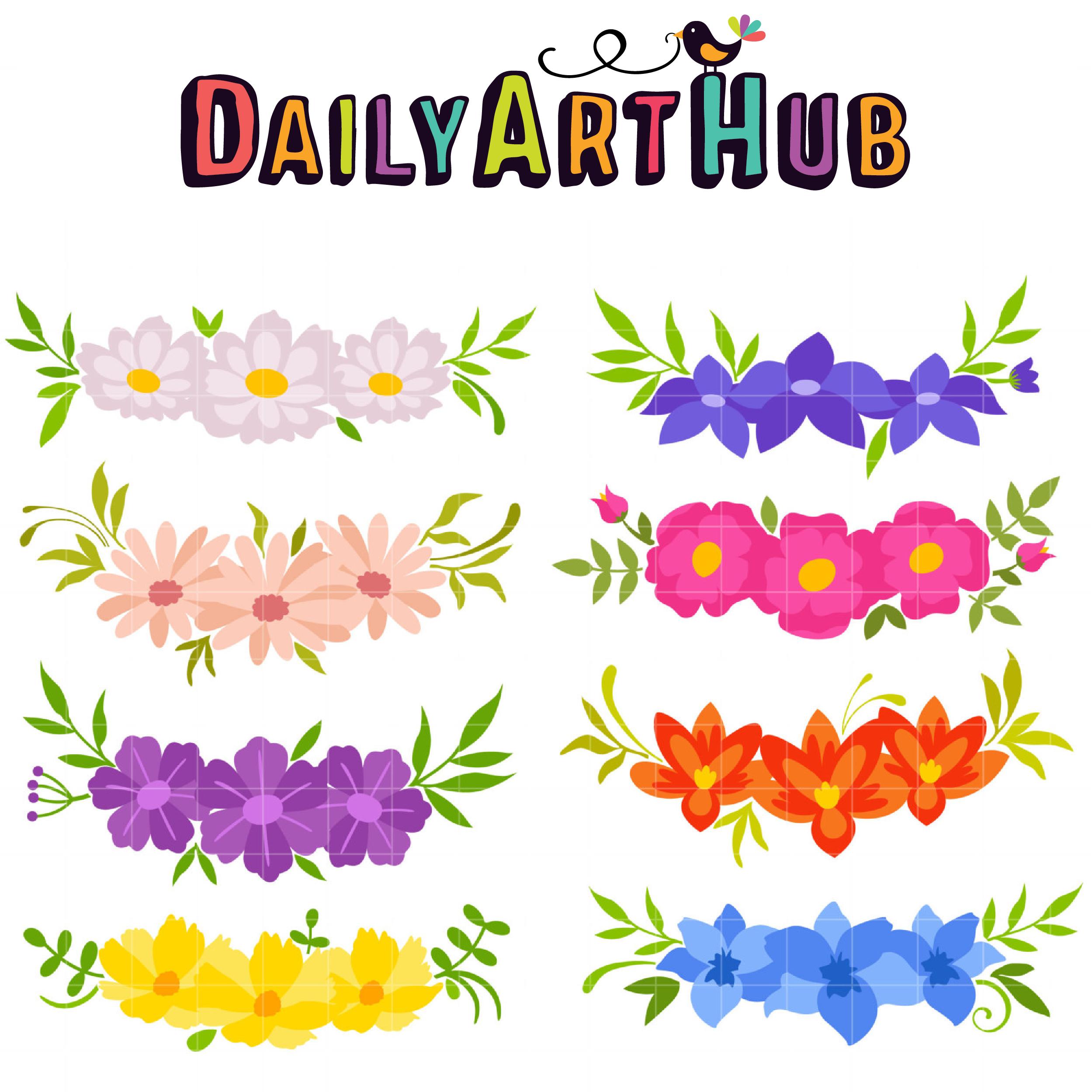 2499x2499 Flower Crowns Clip Art Set Daily Art Hub