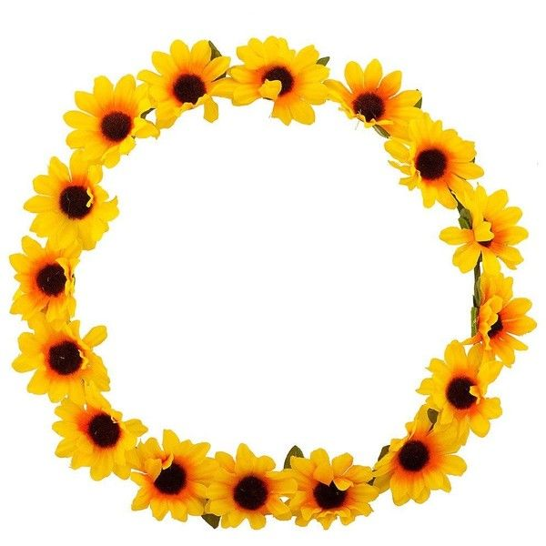 Flower crown yellow. Clipart free download best