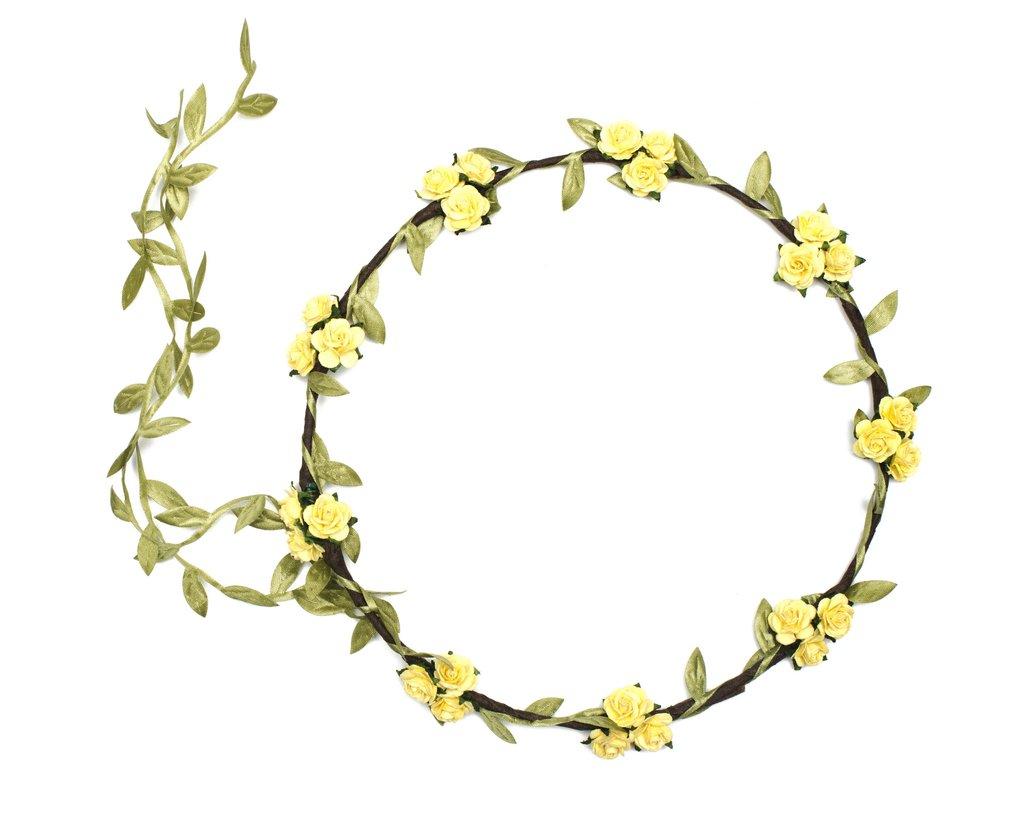 1024x819 Yellow Flower Crown, Flower Crown, Wedding Headband Beauxoxo