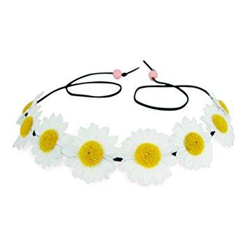 355x355 White Daisy Flower Crown For Disney World Health