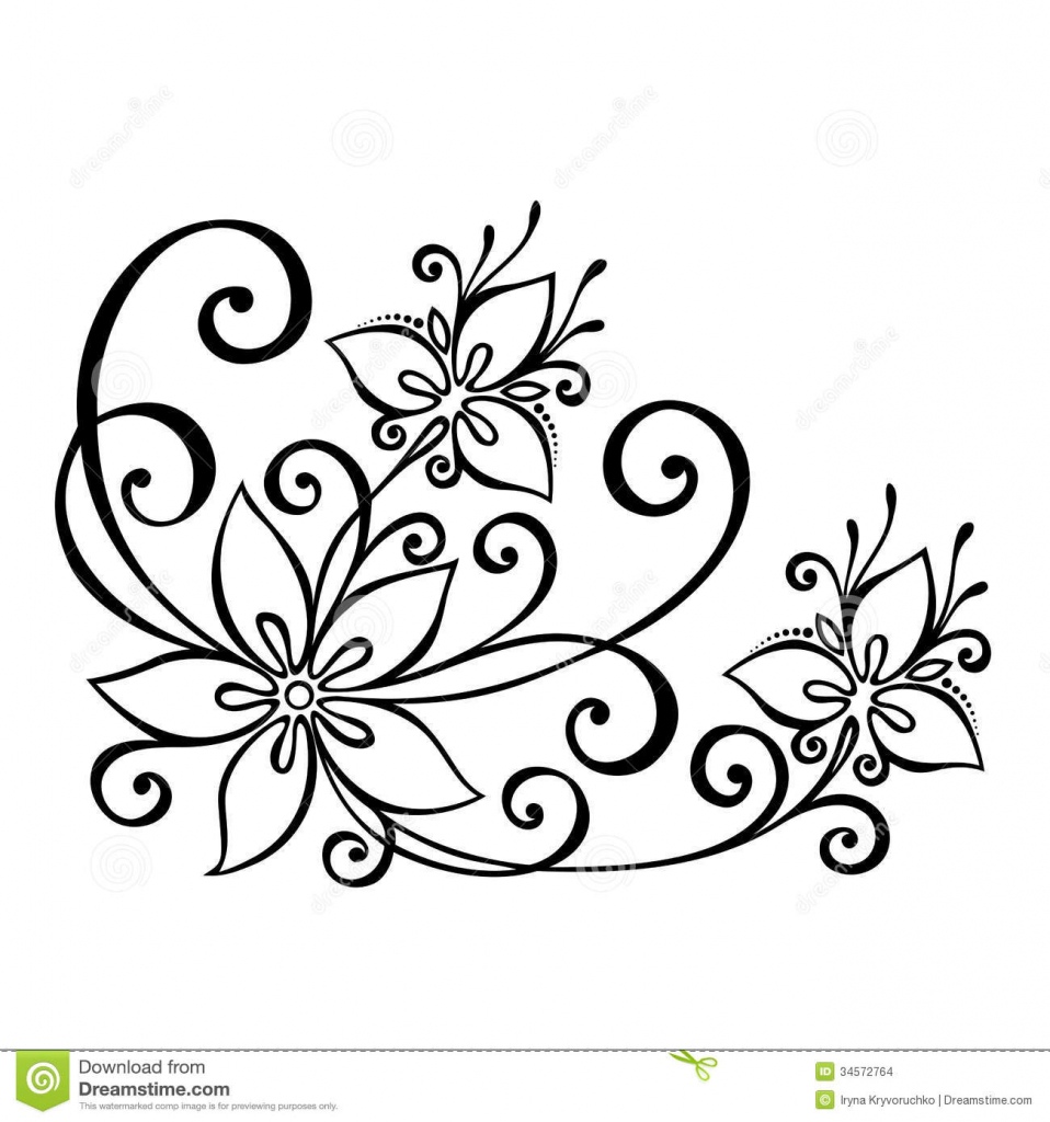 958x1024 Simple Flowers For Drawing Simple Flower Drawings Free Download