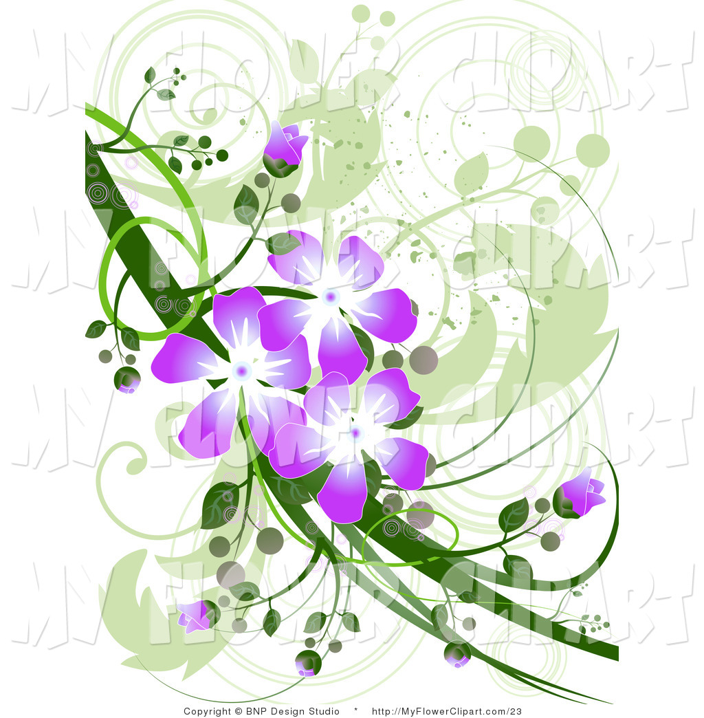 1024x1044 Clip Art Of A Purple Flower Design By Bnp Design Studio
