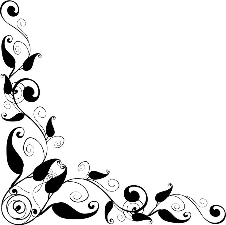 Flower Frame Clipart Black And White