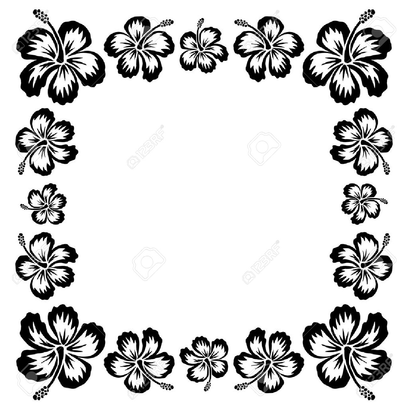 1300x1300 Black And White Flower Frame Choice Image