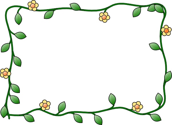 600x437 Black And White Flower Border Clip Art Free Vector Download