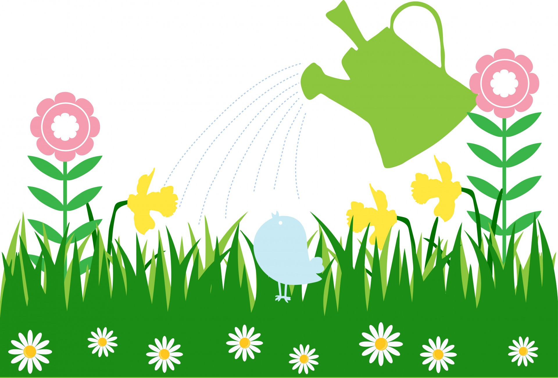 1920x1302 Watering Can Flowers Clip Art