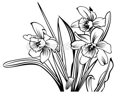 Flower Garden Clipart Black And White