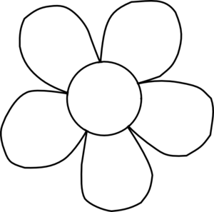 300x297 Black And White Flower Clipart