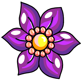 320x313 Hand Drawn Purple Clematis Bloom. Free, Royalty Free, Commercial