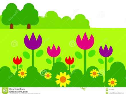 440x330 Flower Garden Design Clip Art
