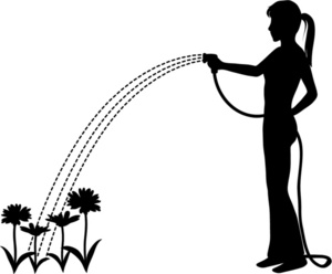 300x248 Flower Garden Clipart Image