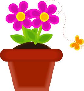 277x300 Flowerpot Clipart Image
