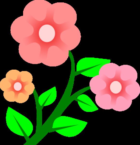 582x600 Garden Flowers Clip Art Many Flowers