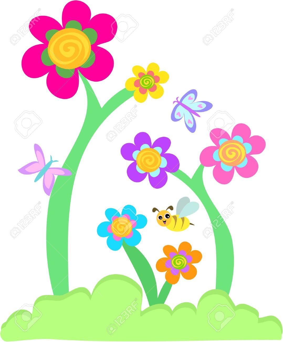 1078x1300 Garden Clipart Flower Cartoon