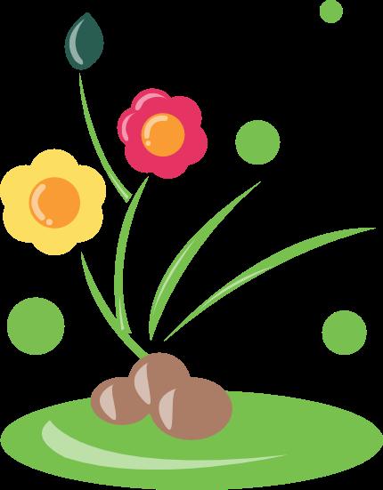 430x551 Garden Clipart One Flower