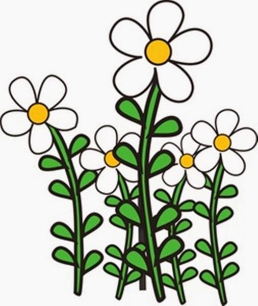 506x600 Garden Flowers Clip Art Many Flowers
