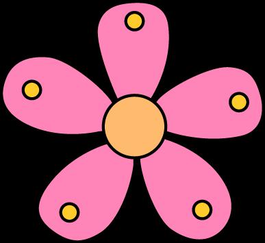 387x355 Single Garden Flower Clip Art