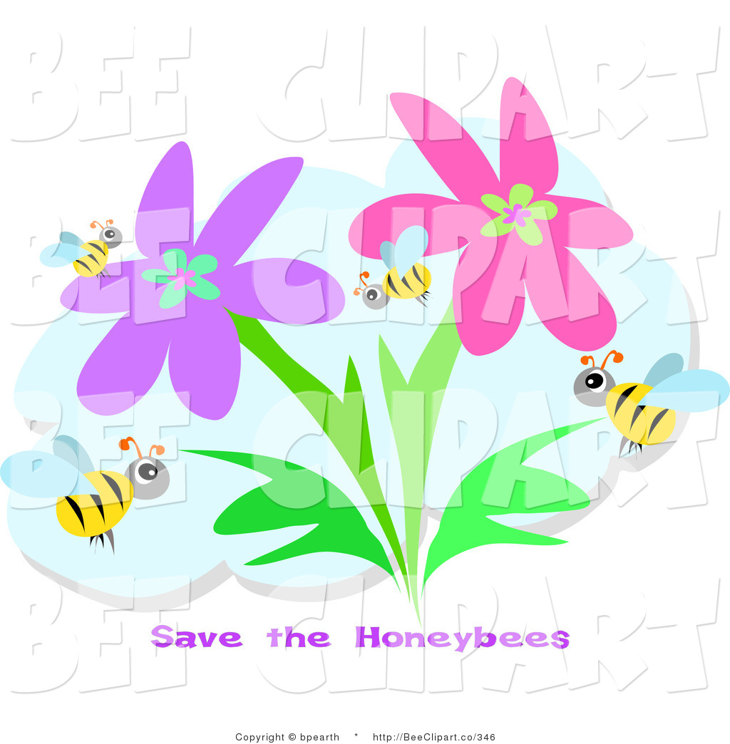 1024x1044 Vector Clip Art Of A Group Of Honey Bees Flying In A Flower Garden