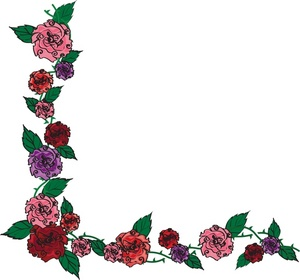 300x280 Pink Rose Clipart Flower Border