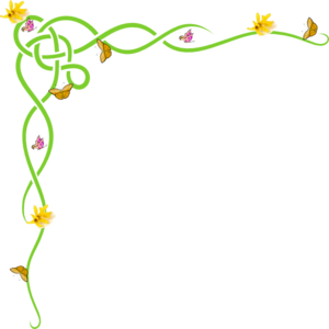 300x300 Spring Flower Border Clip Art Free Cliparts
