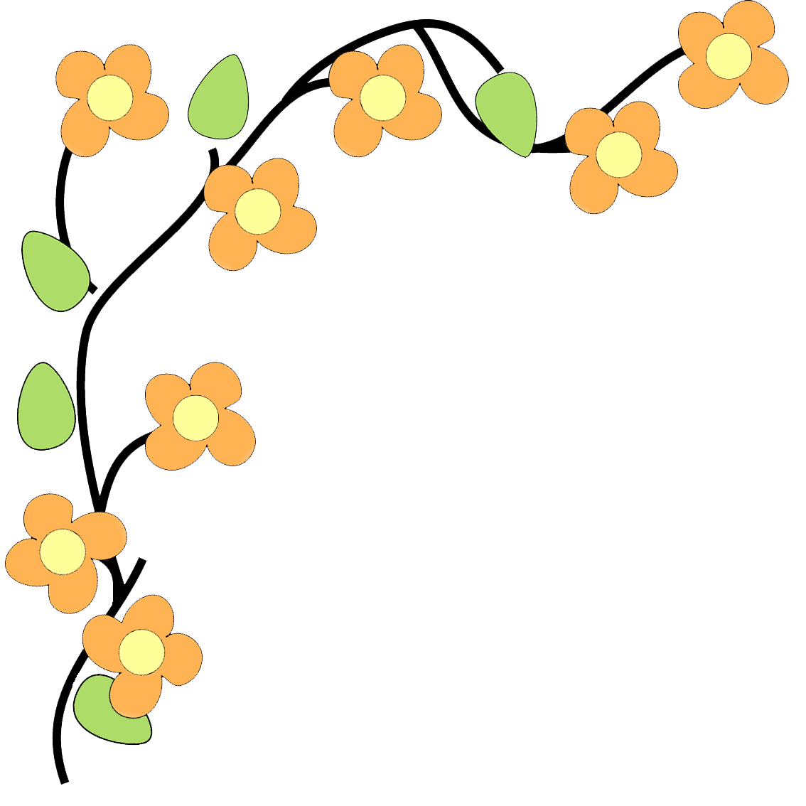 1134x1134 Yellow Flower Clipart Floral Corner