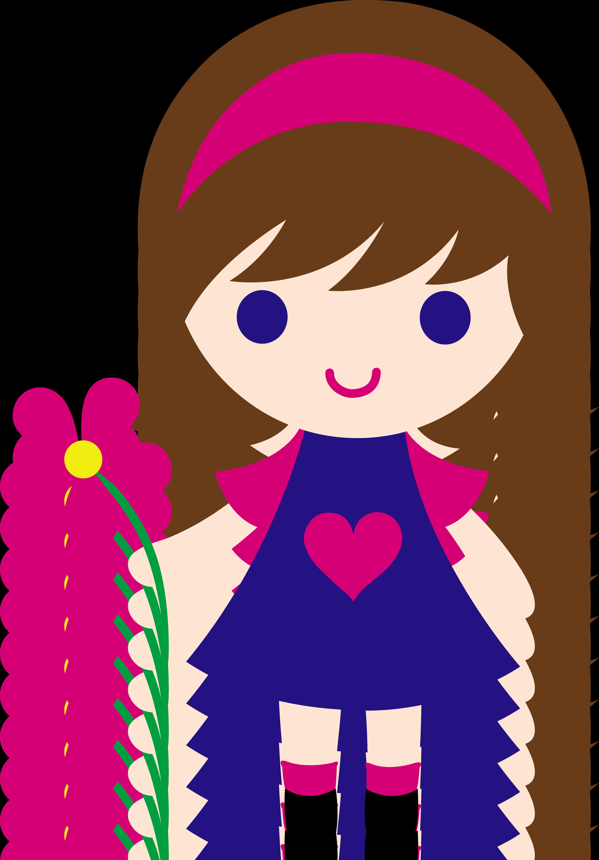 Flower girl clipart free download best flower girl clipart on 4330x6214 cute little girl holding daisy izmirmasajfo