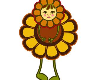 340x270 Fall Flower Clip Art Etsy