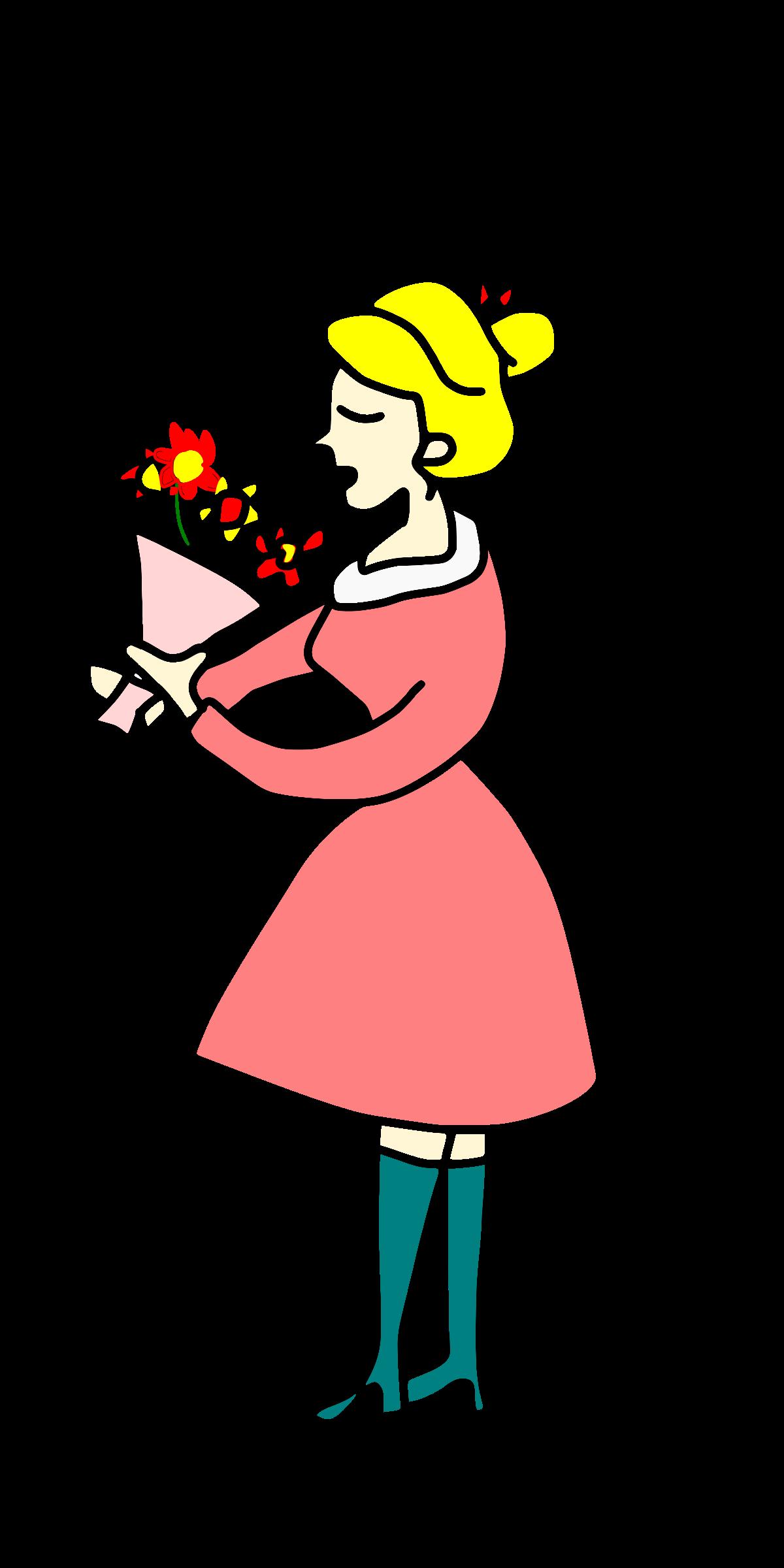1200x2400 Flower Girl Bouquet Clip Art Cliparts