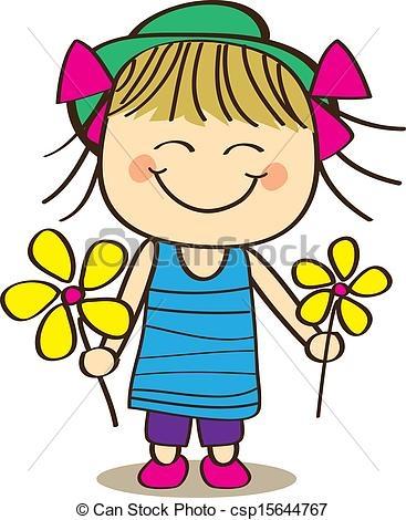367x470 Flower Girl Cute Clip Art Cliparts