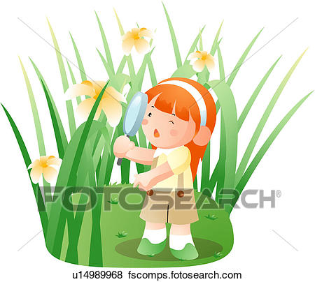 450x404 Stock Illustration Of House, Child, Spectacle, Observation, Girl