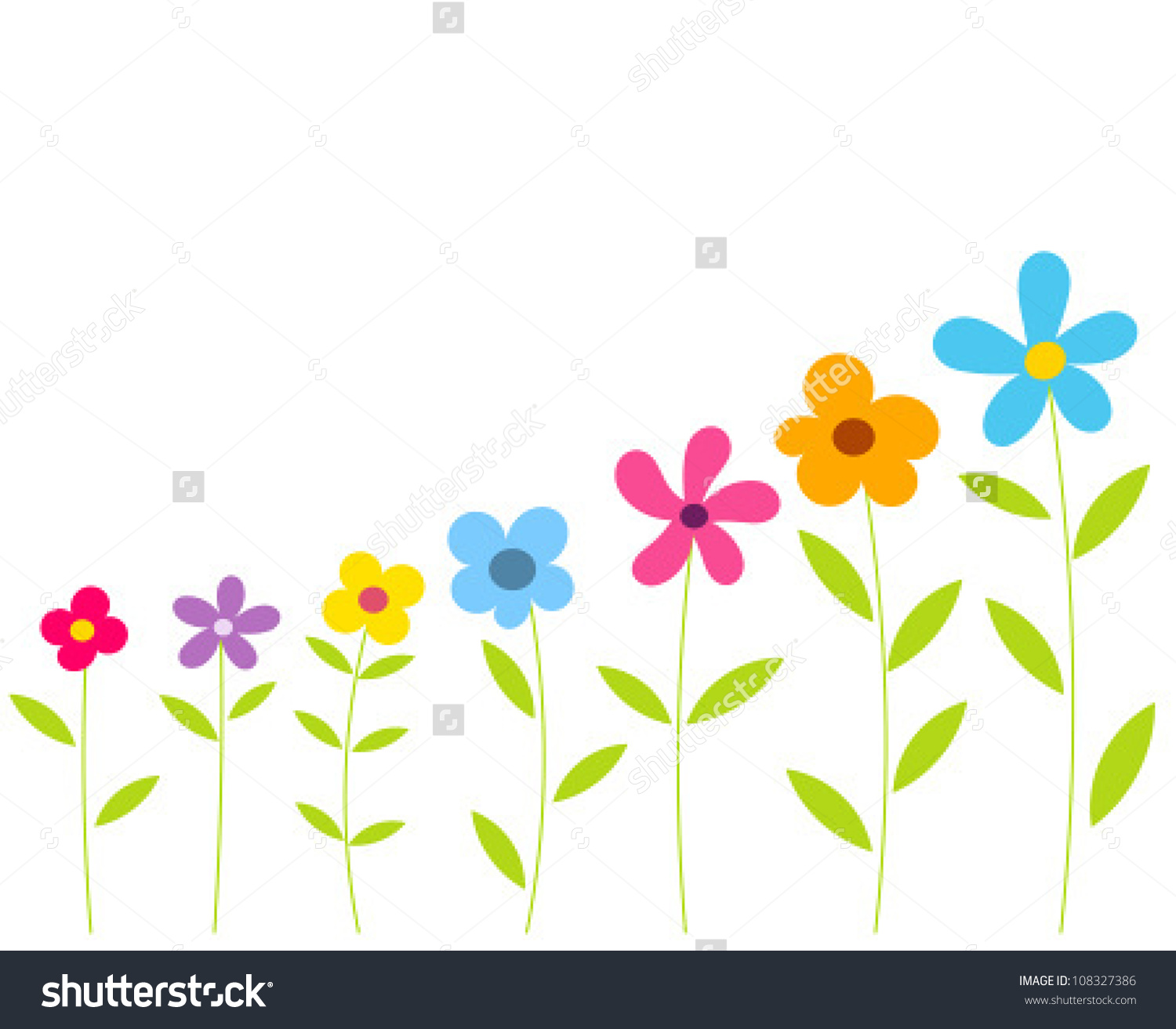 1500x1313 Row Of Flowers Clipart