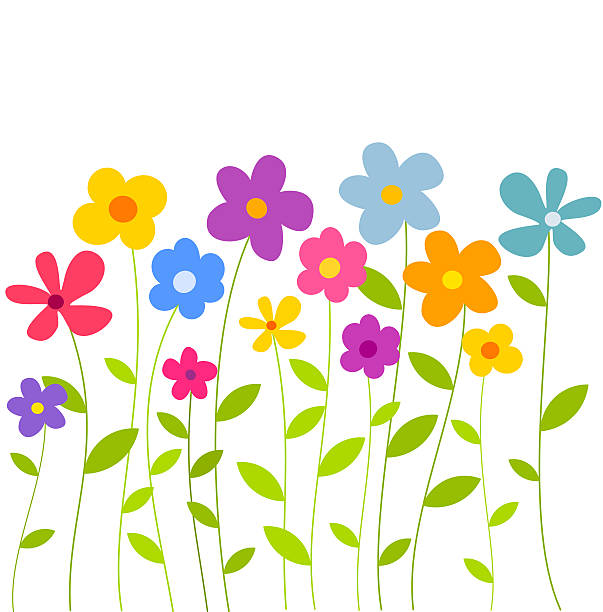 603x612 Wildflower Clipart Flower Growing