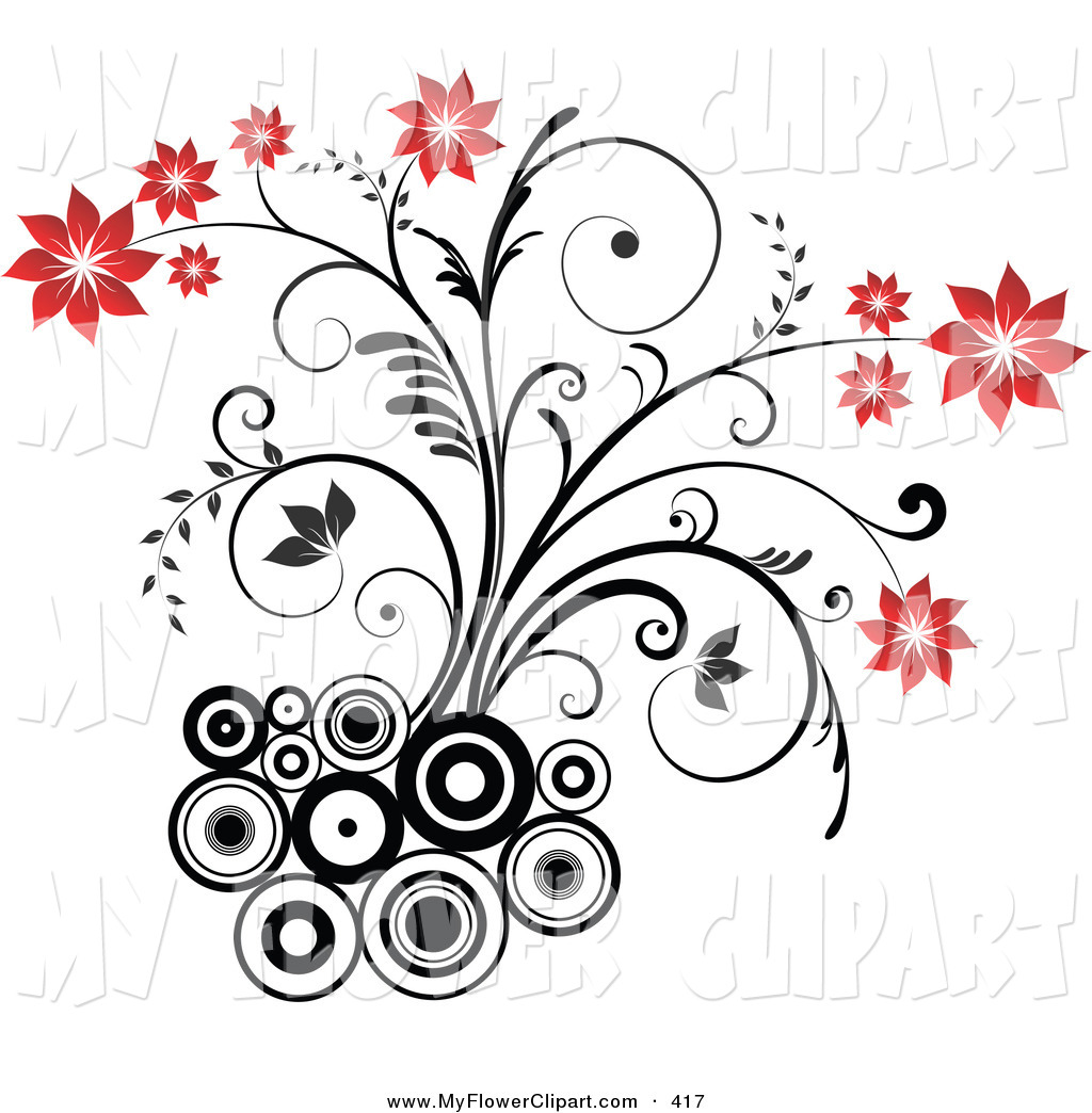 1024x1044 Clip Art Of A Blooming And Flowering Plant With Red Blooms