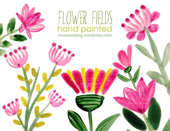 Flower Header Cliparts