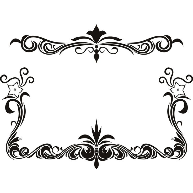736x736 Elegance Clipart Top Page Border