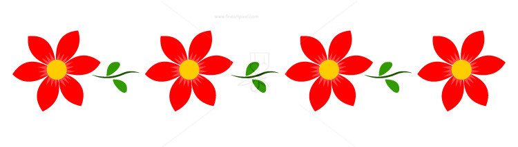 750x214 Flower Border,header,footer,background Free Vectors
