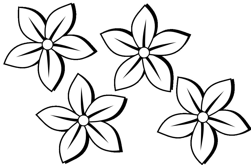 999x659 Flower Clipart Easy