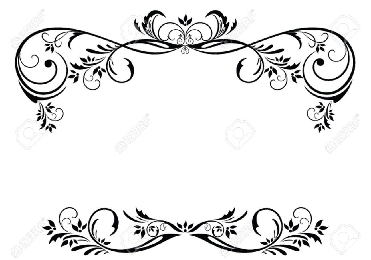 1300x914 Vintage Floral Frame Royalty Free Cliparts, Vectors, And Stock