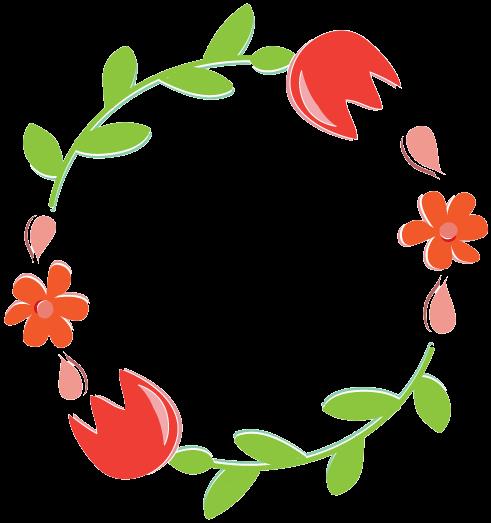 491x523 Wreath Clipart Flower Illustration