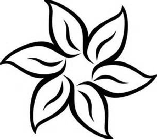 600x534 Flower Black And White Black And White Flower Border Clipart Kid