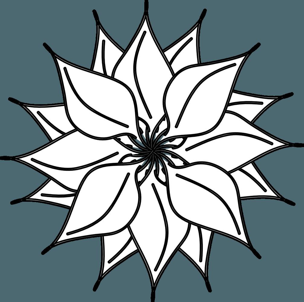 1007x1000 Black Amp White Clipart Lotus Flower