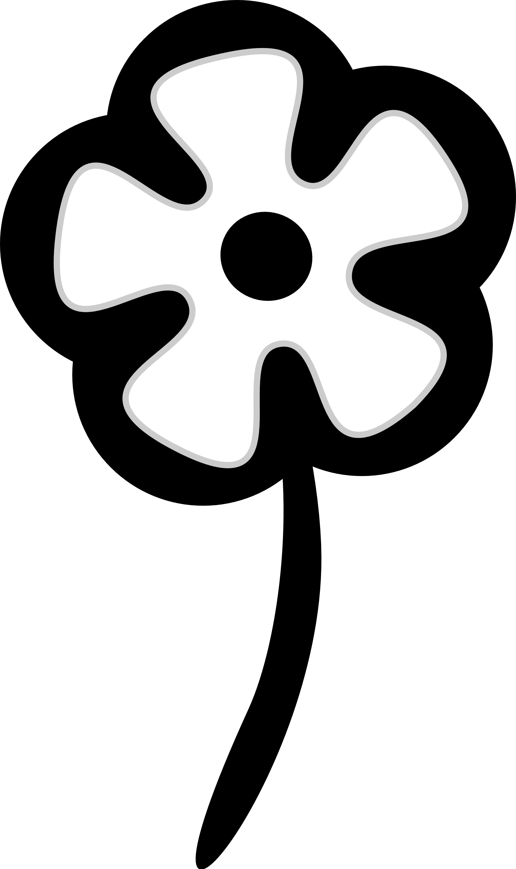 1979x3328 Flower Black And White Flowers Black And White Clip Art Image