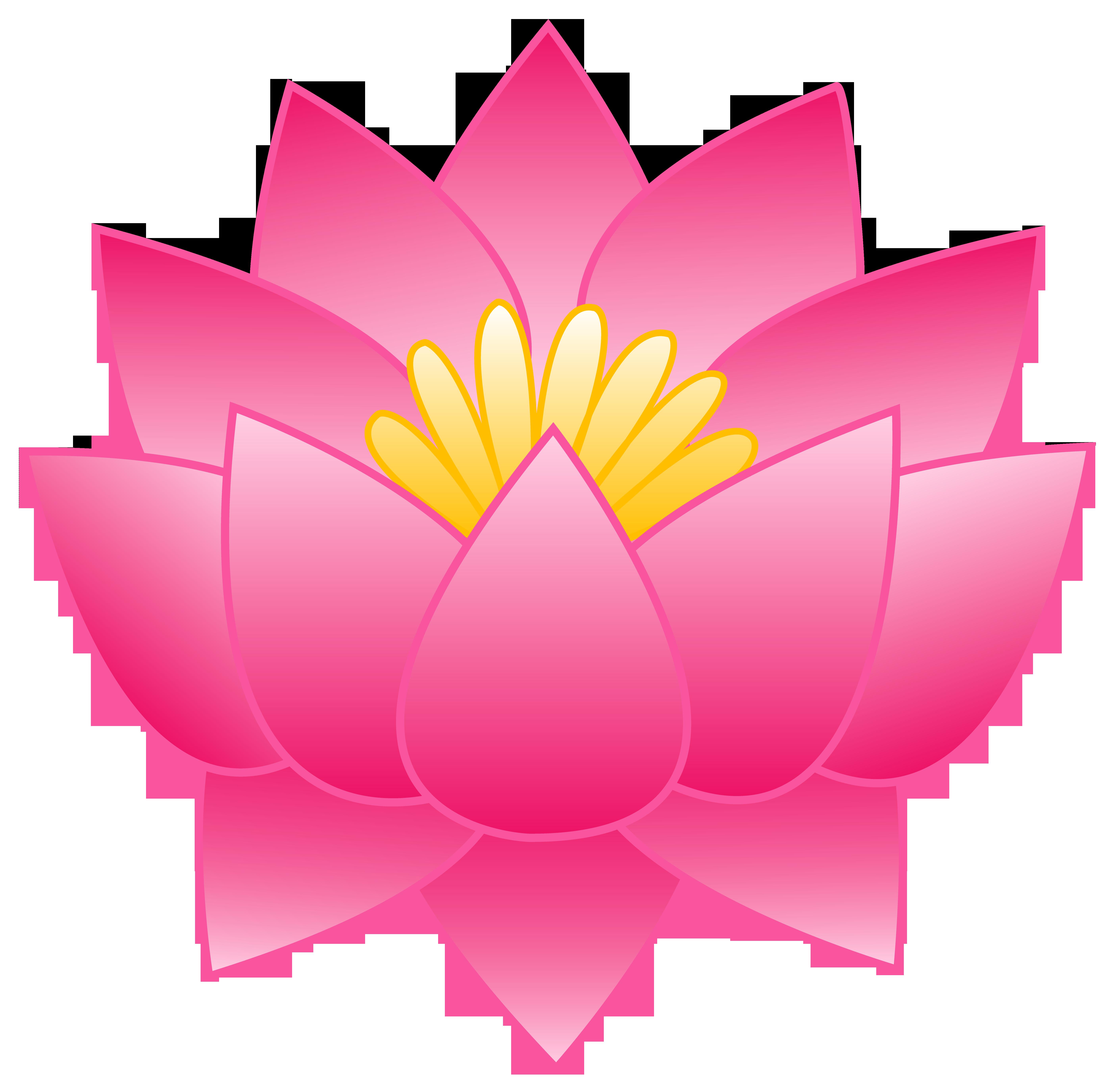 5584x5505 Lotus Flower Clip Art
